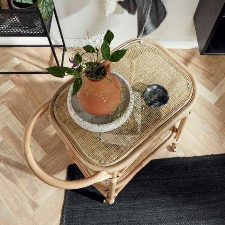Nordal Bali Rattan Drinks Trolley from Accessories for the Home