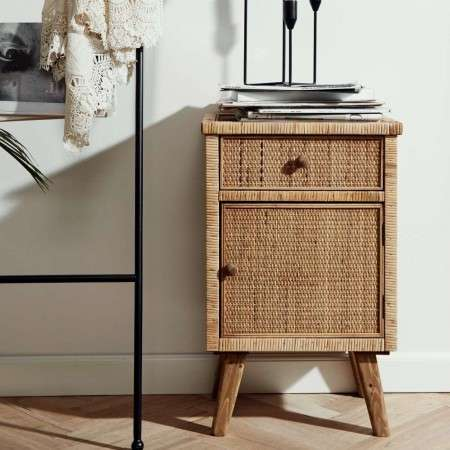 Nordal Rata Rattan Cabinet with Top Drawer from Accessories for the Home
