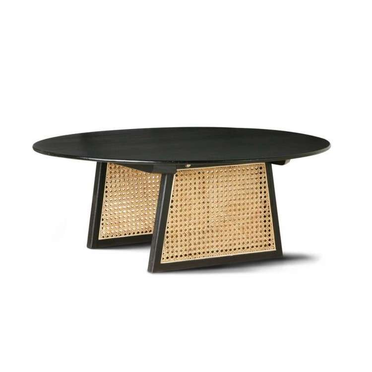 HKLiving Large Rattan Coffee Table in Natural or Black from Accessories for the Home