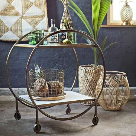 Madam Stoltz Brass Art Deco Drinks Trolley from Accessories for the Home
