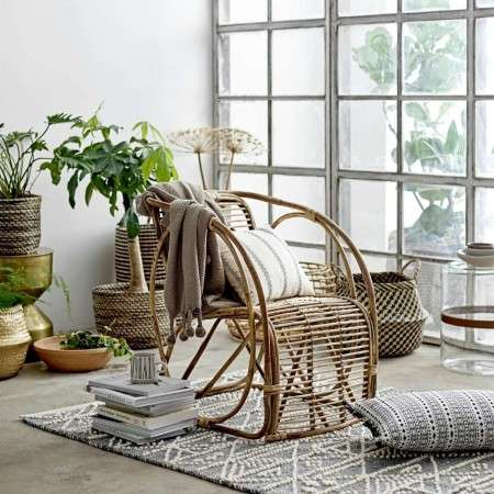 Bloomingville Tubo Natural Cane Lounge Chair