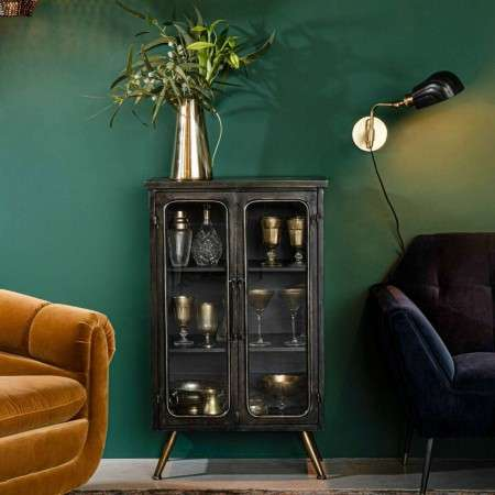 Dutchbone Denza Iron Display Cabinet from Accessories for the Home
