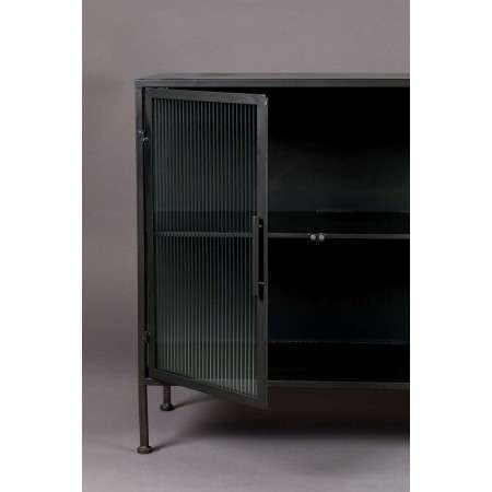 Dutchbone Boli Iron & Ribbed Glass Sideboard from Accessories for the Home