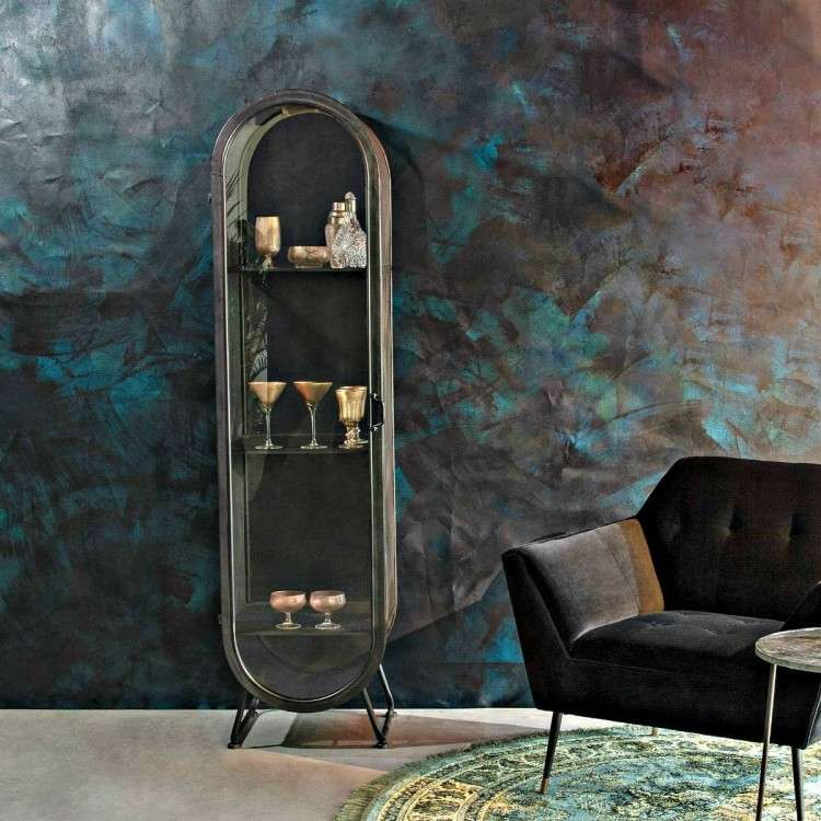 Dutchbone Oval Iron Display Cabinet from Accessories for the Home