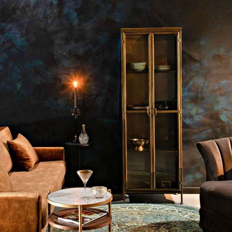 Dutchbone Gertlush Antique Brass Cabinet from Accessories for the Home