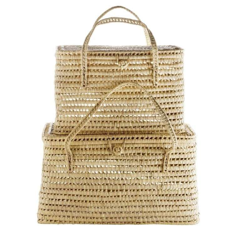 Tinekhome Natural Storage Baskets with Lids
