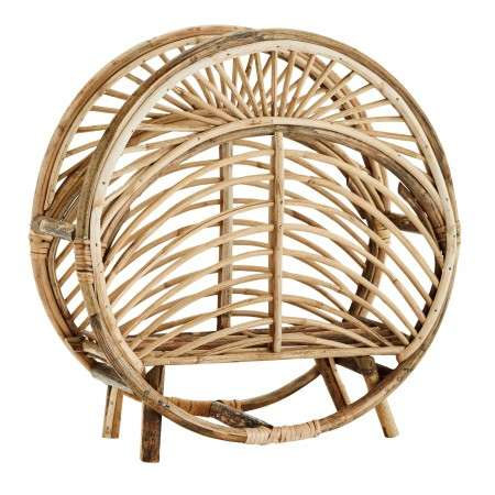 Madam Stoltz Round Cane Magazine Rack from Accessories for the Home