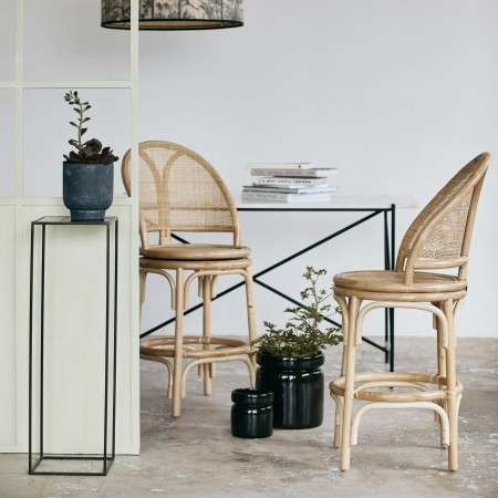 Nordal Natural Rattan Bench Seat from Accessories for the Home