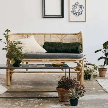 Nordal Bali Natural Rattan Rounded Bench from Accessories for the Home