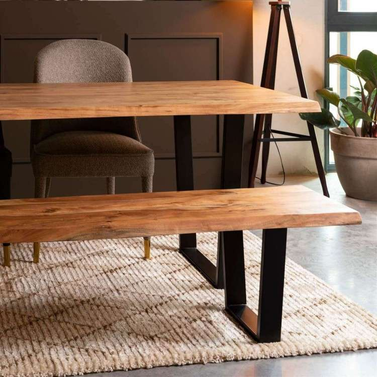 Dutchbone Aka Wooden Dining Bench from Accessories for the Home
