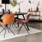 Zuiver Seth Black Herringbone Dining Table from Accessories for the Home