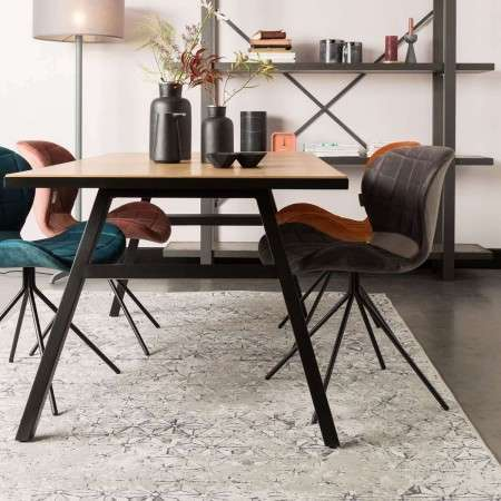 Zuiver Seth Oak Herringbone Dining Table from Accessories for the Home