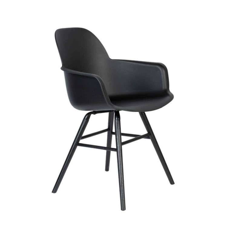 Zuiver Albert Kuip All Black Armchair from Accessories for the Home