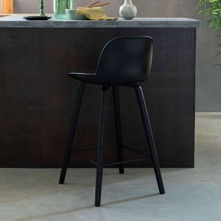 Zuiver Albert Kuip All Black Bar Chair