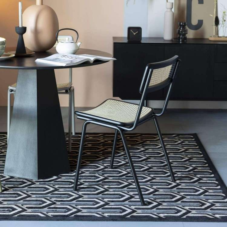 Zuiver Jort Black Rattan Chair from Accessories for the Home