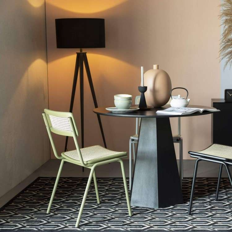 Zuiver Jort Green Rattan Dining Chair from Accessories for the Home
