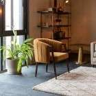 Dutchbone Tammy Velvet Armchair Whisky from Accessories for the Home