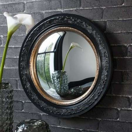 Lexton Black And Gold Circular Mirror
