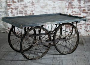 Industrial Style Furniture Wooden Cart Side Table