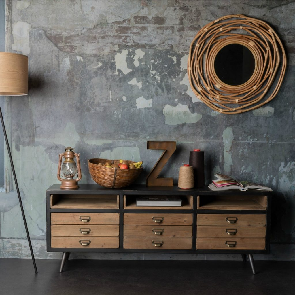 Dutchbone Sol Vintage Style Low Sideboard from the sideboards range at Accessories for the Home