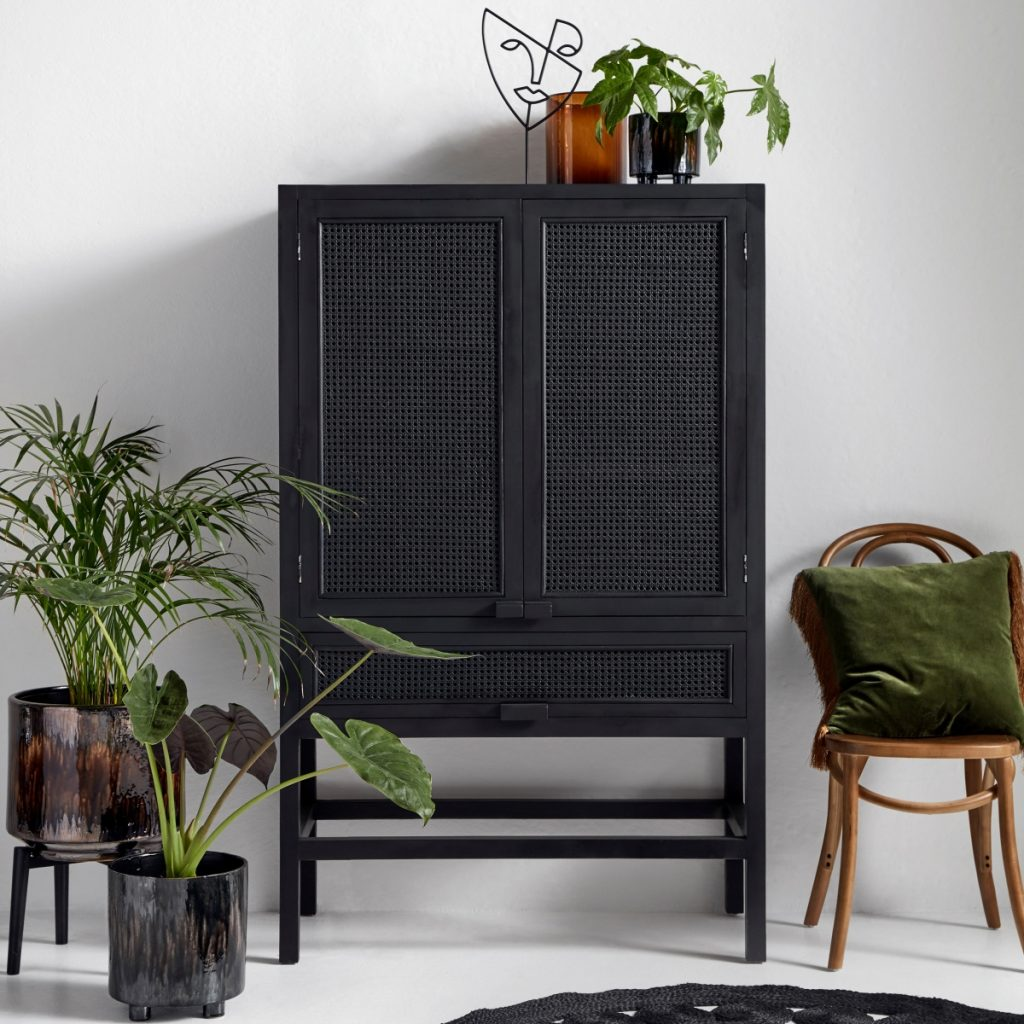 Nordal Open Mesh Teak Cabinet from Accessories for the Home