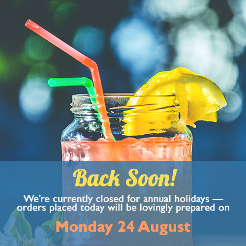 We're back from annual leave on 24 August!